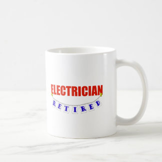 RETIRED ELECTRICIAN COFFEE MUG