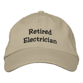 Retired Electrician Personalized Adjustable Hat Embroidered Hats