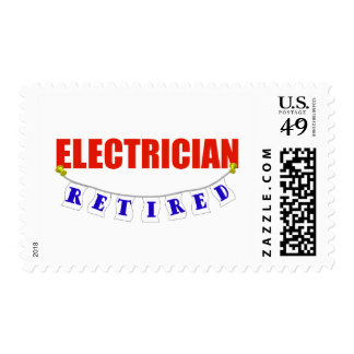 RETIRED ELECTRICIAN STAMP