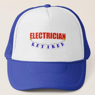 RETIRED ELECTRICIAN TRUCKER HAT