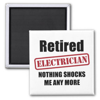 Retired Electrician (UK spell) 2 Inch Square Magnet