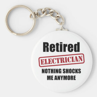 Retired Electrician (US spell) Keychain