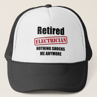 Retired Electrician (US spell) Trucker Hat