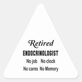 Retired Endocrinologist  No job No clock No cares Triangle Sticker