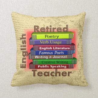 Retired English Teacher Decorative Pillow