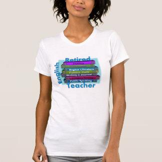Retired English Teacher Stack of Books T-Shirts