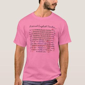 Retired English Teacher Story Art Gifts T-Shirt