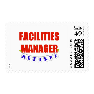 RETIRED FACILITIES MANAGER POSTAGE STAMP