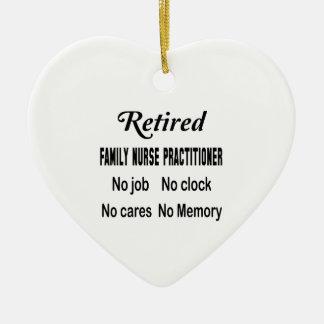 Retired Family Nurse Practitioner No job No clock Ceramic Ornament
