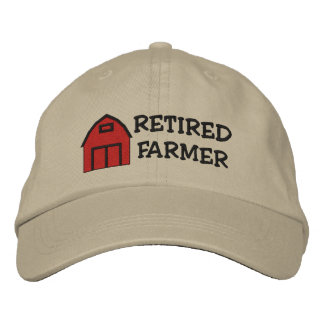Retired Farmer Embroidered Hat