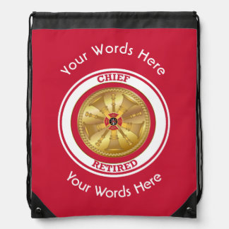 Retired Fire Chief Drawstring Backpack