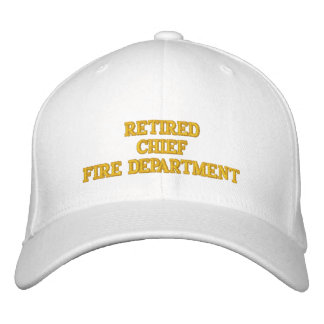 Retired Fire Chief Hat Baseball Cap