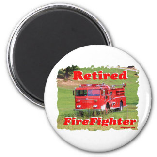 Retired Fire Fighter 2 Inch Round Magnet
