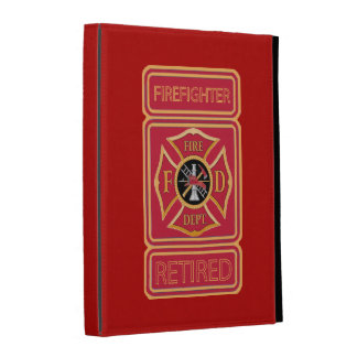 Retired Firefighter iPad Folio Cover