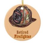 Retired Firefighter Ceramic Ornament