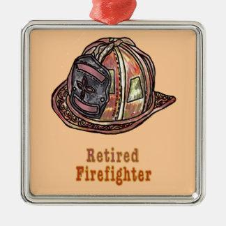 Retired Firefighter Christmas Ornament