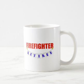 RETIRED FIREFIGHTER COFFEE MUG