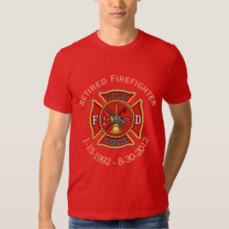 Retired Firefighter Custom Maltese Cross Shirt