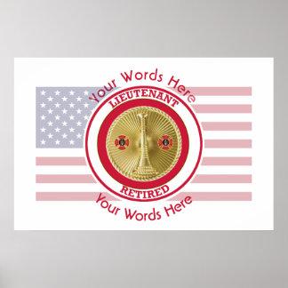 Retired Firefighter Lieutenant Poster