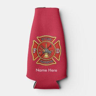 Retired Firefighter Maltese Cross Bottle Cooler