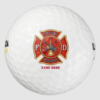 Retired Firefighter Maltese Cross Golf Balls
