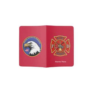 Retired Firefighter Maltese Cross Passport Cover