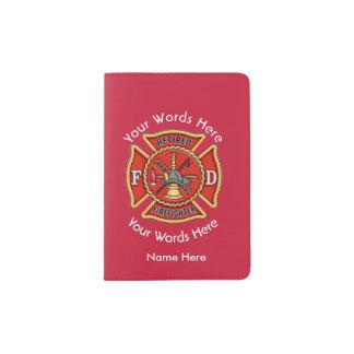 Retired Firefighter Maltese Cross Passport Holder