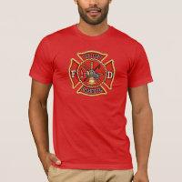 Retired Firefighter Maltese Cross T-Shirt