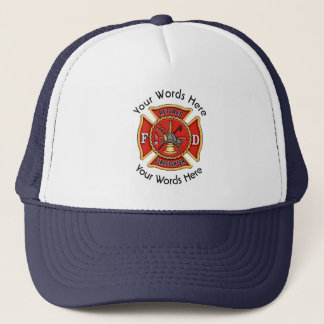 Retired Firefighter Maltese Cross Trucker Hat