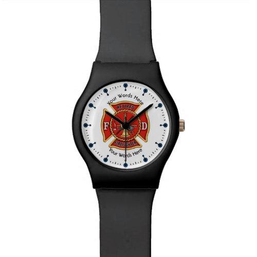 Retired Firefighter Maltese Cross Wrist Watch