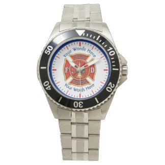 Retired Firefighter Maltese Cross Wristwatch
