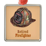 Retired Firefighter Metal Ornament