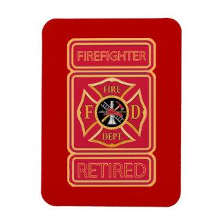 Retired Firefighter Rectangular Photo Magnet