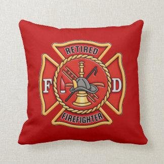 Retired Firefighter Throw Pillow