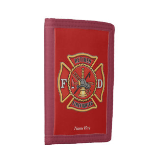Retired Firefighter Tri-fold Wallet
