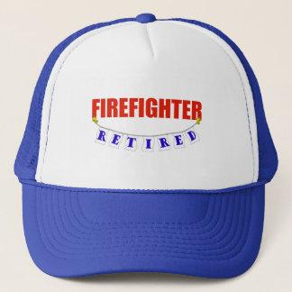 RETIRED FIREFIGHTER TRUCKER HAT