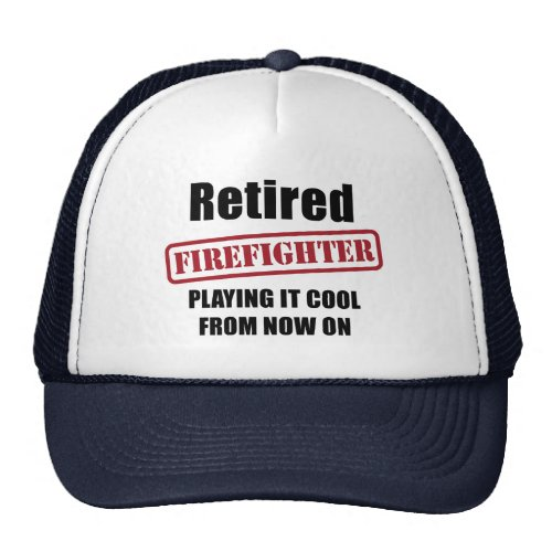 Retired Firefighter Trucker Hat
