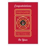 Retired Firefighter's Maltese Cross Card Card