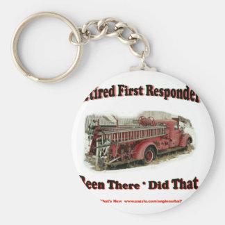 Retired First Responders. Keychain