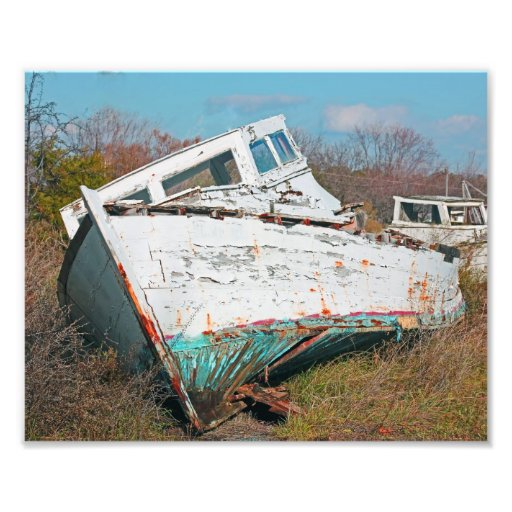 Retired Fishing Boat Photo Print