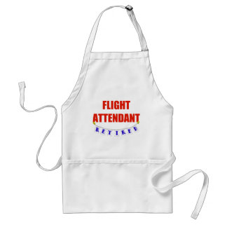 RETIRED FLIGHT ATTENDANT ADULT APRON