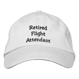 Retired Flight Attendant Embroidered Hat