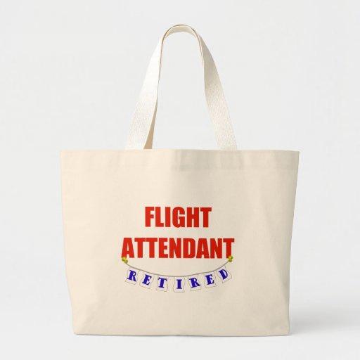 RETIRED FLIGHT ATTENDANT LARGE TOTE BAG