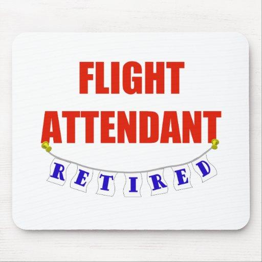 RETIRED FLIGHT ATTENDANT MOUSE PAD