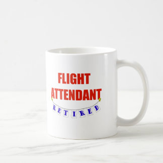 RETIRED FLIGHT ATTENDANT CLASSIC WHITE COFFEE MUG