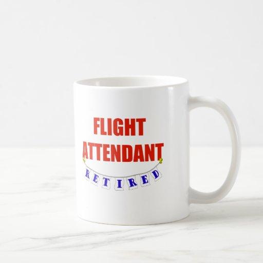 RETIRED FLIGHT ATTENDANT COFFEE MUGS