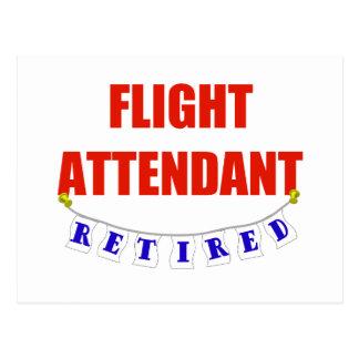 RETIRED FLIGHT ATTENDANT POSTCARD