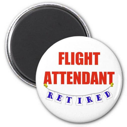 RETIRED FLIGHT ATTENDANT REFRIGERATOR MAGNETS