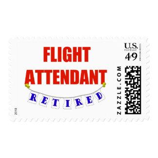 RETIRED FLIGHT ATTENDANT STAMP