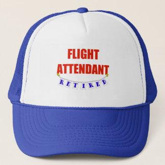 RETIRED FLIGHT ATTENDANT TRUCKER HAT